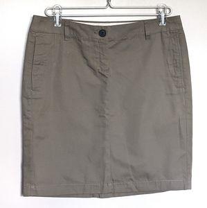4for$20 Mango skirt sz 8 mini cotton khaki